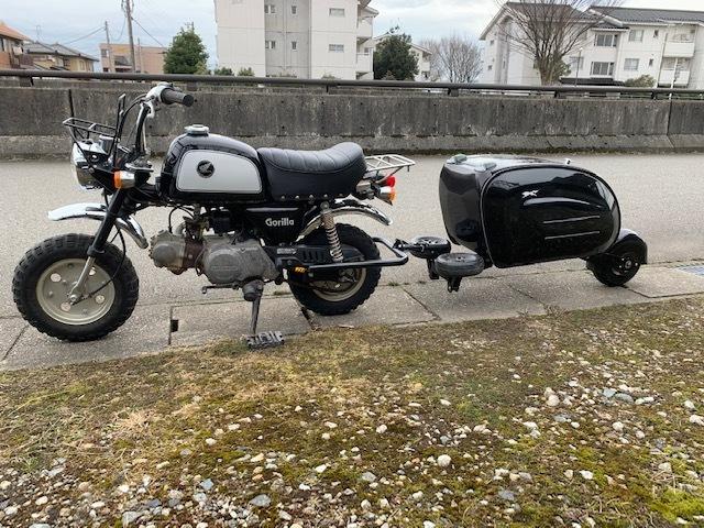 「原付バイクにトレーラー モンキー ゴリラ」の画像3