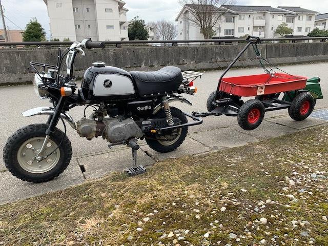 原付バイクにトレーラー モンキー ゴリラ_画像6