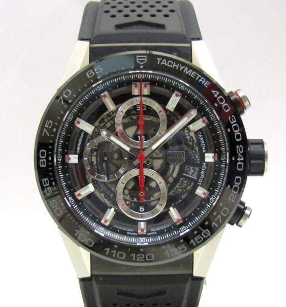 TAG HEUER/タグホイヤー カレラ キャリバー ホイヤー01 CAR2A1Z.FT6044 自動巻き スケルトン ラバーブレス メンズ腕時計_画像1