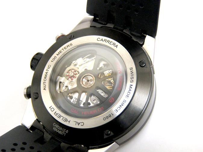 TAG HEUER/タグホイヤー カレラ キャリバー ホイヤー01 CAR2A1Z.FT6044 自動巻き スケルトン ラバーブレス メンズ腕時計_画像4