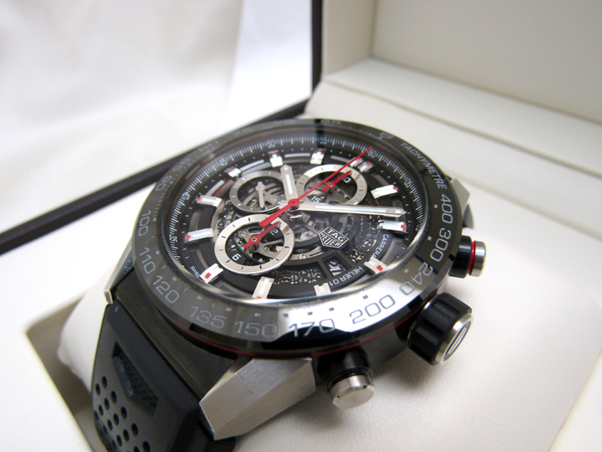 TAG HEUER/タグホイヤー カレラ キャリバー ホイヤー01 CAR2A1Z.FT6044 自動巻き スケルトン ラバーブレス メンズ腕時計_画像2