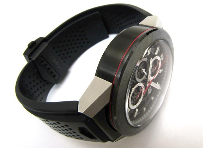 TAG HEUER/タグホイヤー カレラ キャリバー ホイヤー01 CAR2A1Z.FT6044 自動巻き スケルトン ラバーブレス メンズ腕時計_画像6