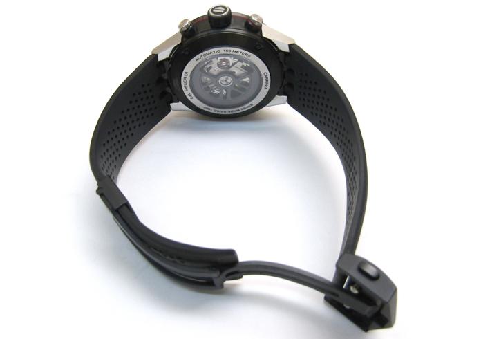 TAG HEUER/タグホイヤー カレラ キャリバー ホイヤー01 CAR2A1Z.FT6044 自動巻き スケルトン ラバーブレス メンズ腕時計_画像3