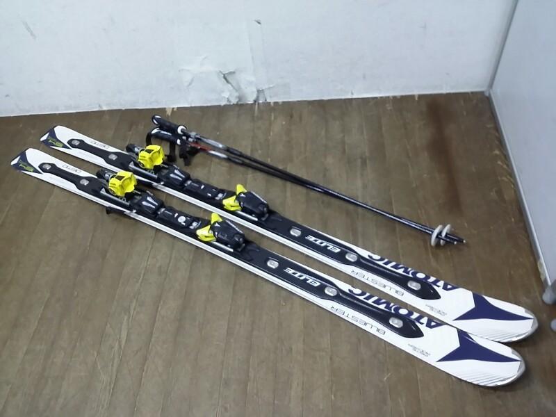 ATOMIC アトミック スキー板 BLUESTER ブルースター 164 PISTE ROCKER ビンディング NEOX シナノ製 ストック フリーM 付_画像1