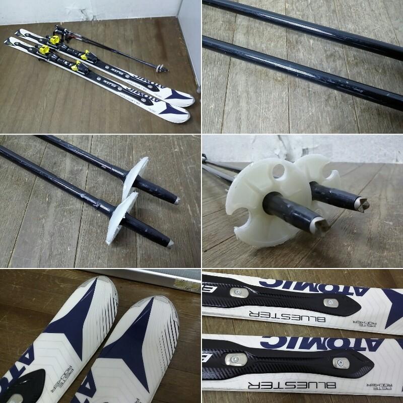ATOMIC アトミック スキー板 BLUESTER ブルースター 164 PISTE ROCKER ビンディング NEOX シナノ製 ストック フリーM 付_画像3