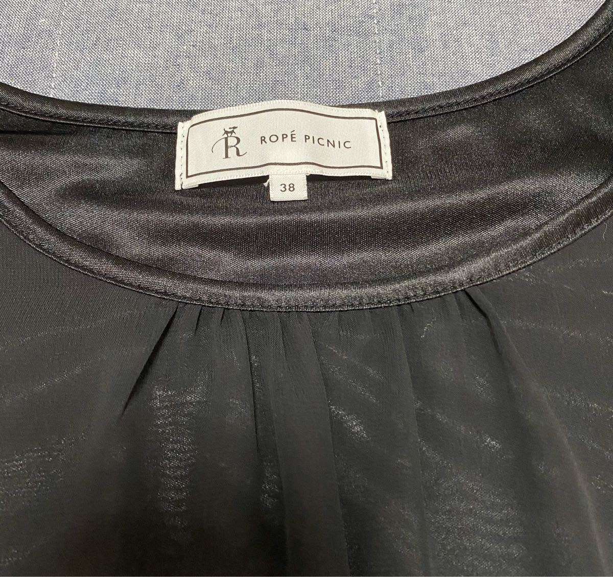 トップス ブラウス半袖 ロペピクニック ブラック Mサイズ