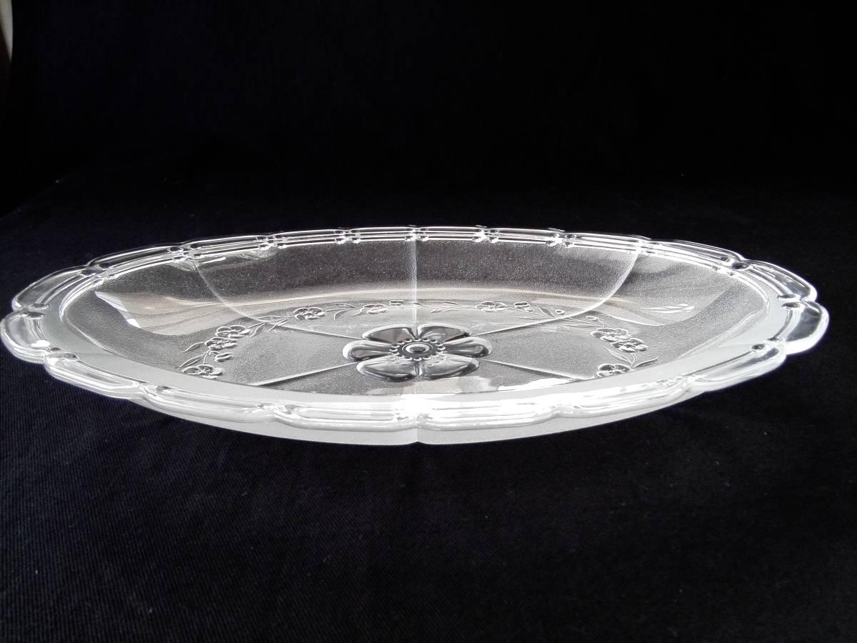アデリアグラス  石塚硝子 ガラス製 クックトレー  楕円形皿 5客 未使用_画像4