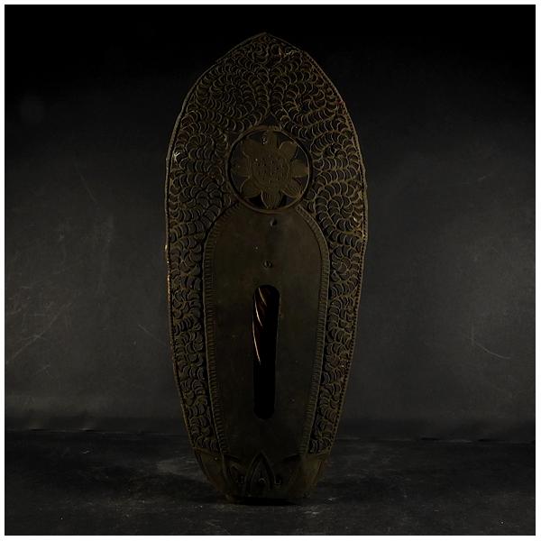 古い木彫 金彩 阿弥陀如来立像 (全長約21㎝) 時代物? 仏教美術 置物 _画像4