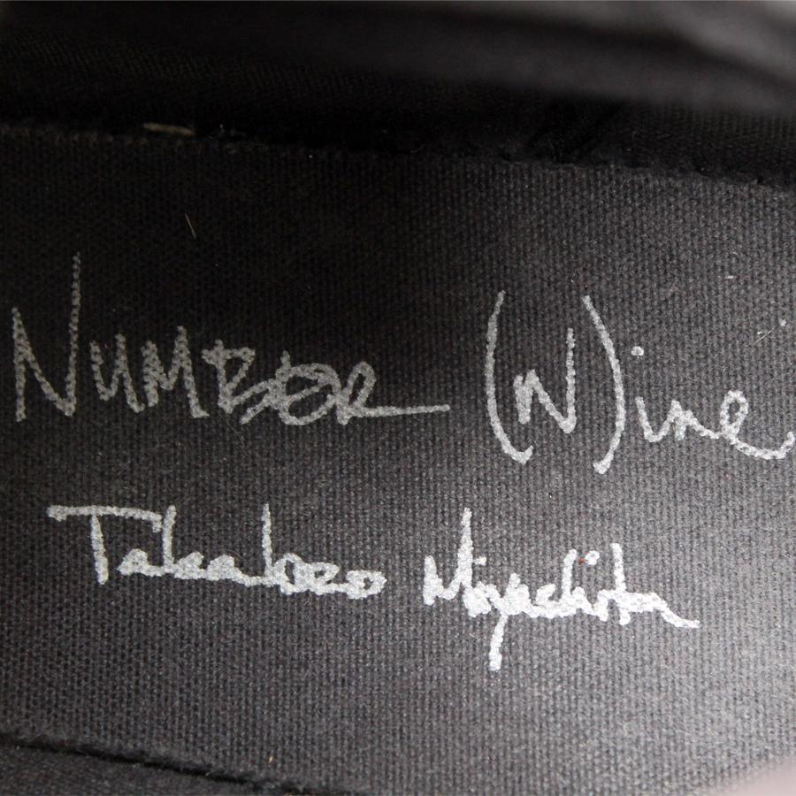 ナンバーナイン NUMBER NINE★ハイカットスニーカー 8≒26.5~27cm メンズ 靴 レースアップ r-732