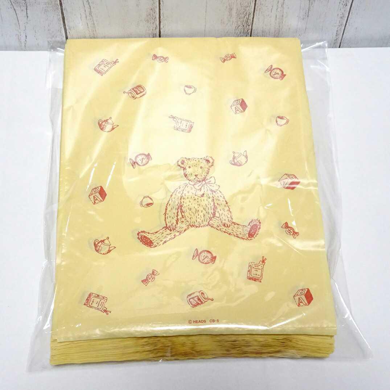 1190 送料無料・499枚セット☆レジ袋 空柄 四つ葉 クローバー柄 花柄☆テディベア柄 ビニール袋☆フリマ 店舗用品 ラッピング用品