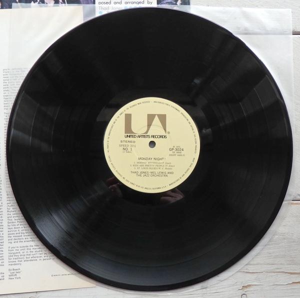 LP THAD JONES MEL LEWIS JAZZ ORCHESTRA サド・ジョーンズ & メル・ルイス マンデー・ナイト GP-3024_画像4