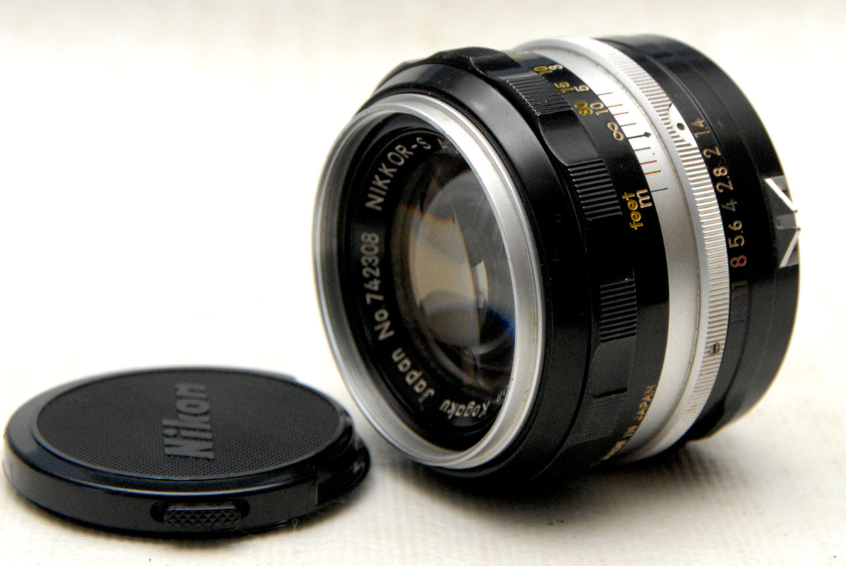 Nikon ニコン 純正 NIKKOR-S 50mm MF 高級単焦点レンズ 1:1.4 作動品