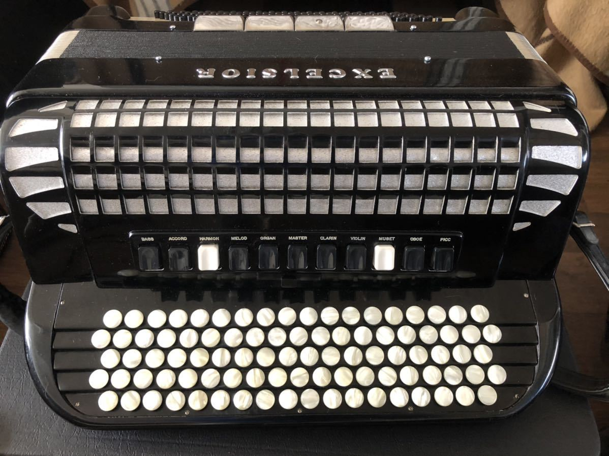 EXCELSIOR Button Accordion MODEL921  エキセルシャー ボタン アコーディオン921 専