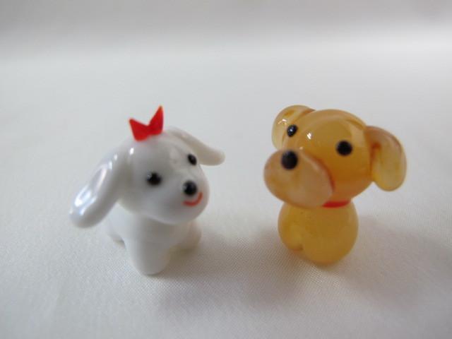 ★即決 セットがお得!ミニチュアガラス細工 わんちゃんセットⅡ 犬【ZM】_画像5