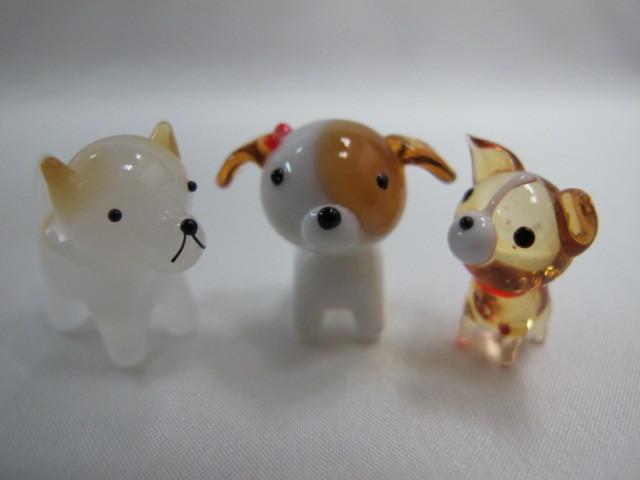 ★即決 セットがお得!ミニチュアガラス細工 わんちゃんセットⅡ 犬【ZM】_画像6