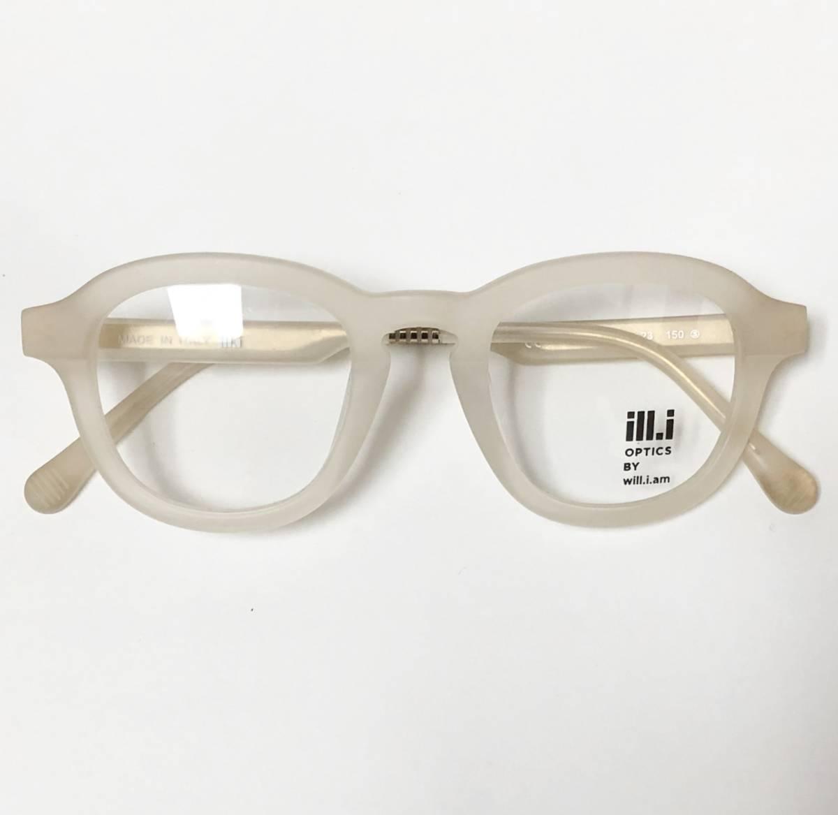 65%OFF 定価68,900円 Will.i.am 正規新品 極太メガネ 白透明メガネ イタリア製 ウィルアイアム 米国ブランド_画像1