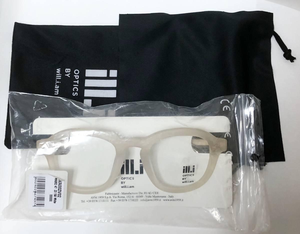 65%OFF 定価68,900円 Will.i.am 正規新品 極太メガネ 白透明メガネ イタリア製 ウィルアイアム 米国ブランド_画像9