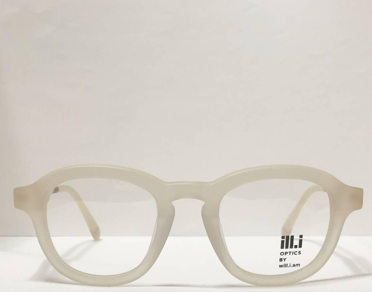 65%OFF 定価68,900円 Will.i.am 正規新品 極太メガネ 白透明メガネ イタリア製 ウィルアイアム 米国ブランド_画像2