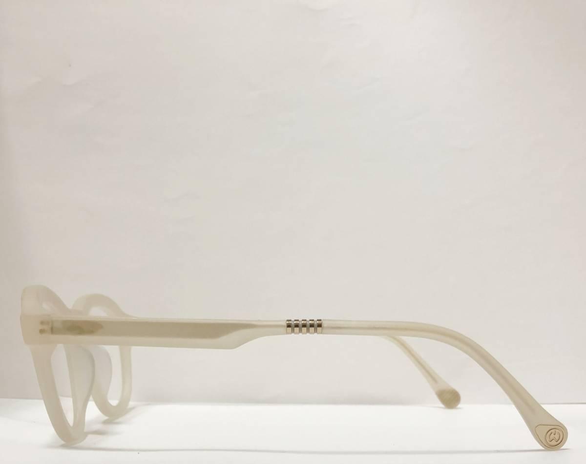 65%OFF 定価68,900円 Will.i.am 正規新品 極太メガネ 白透明メガネ イタリア製 ウィルアイアム 米国ブランド_画像5