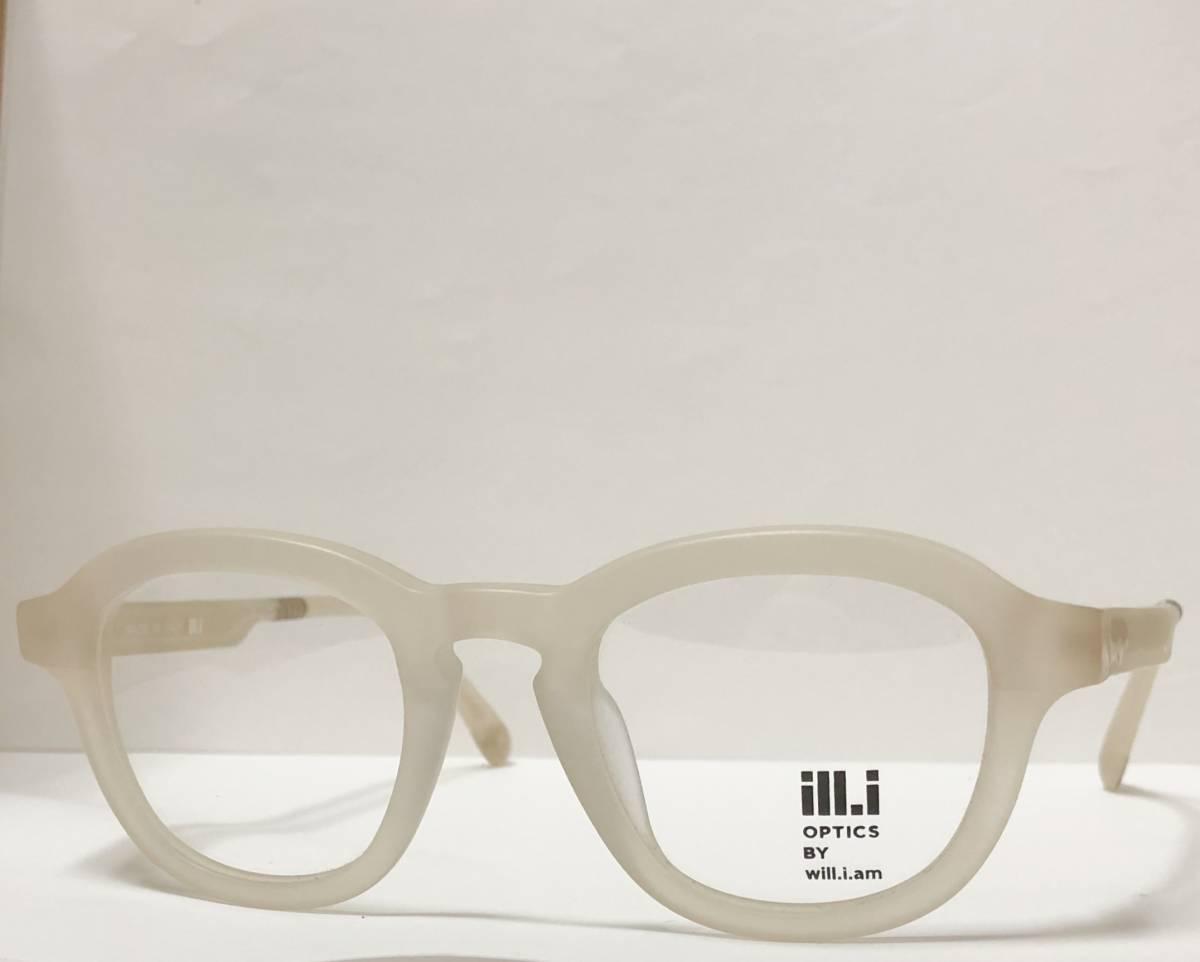 65%OFF 定価68,900円 Will.i.am 正規新品 極太メガネ 白透明メガネ イタリア製 ウィルアイアム 米国ブランド_画像3