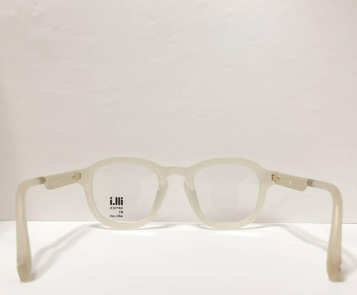 65%OFF 定価68,900円 Will.i.am 正規新品 極太メガネ 白透明メガネ イタリア製 ウィルアイアム 米国ブランド_画像8