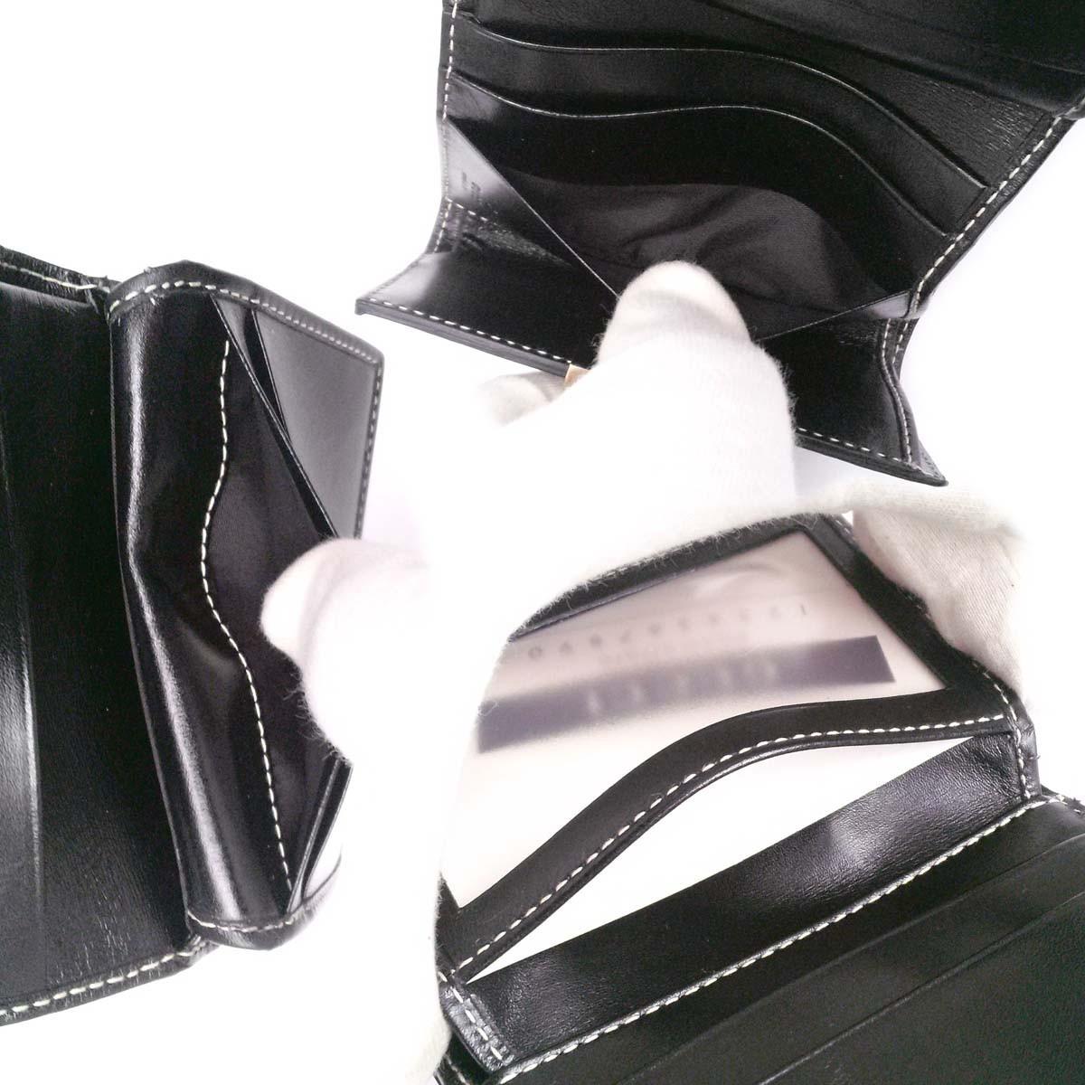 【新品同様】 グッチ コンパクト財布 金具テープ付き スライドロック【モード系】パスケース付き 黒 箱 appre5773【一撃即決】_画像8