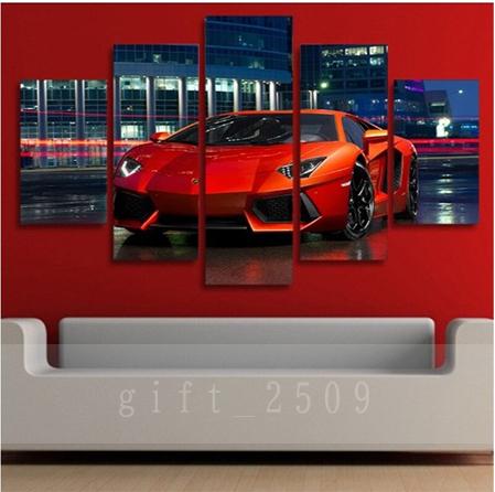 ★☆【大人気!!Lamborghini Huracan】 ランボルギーニ ウラカン 夜景 キャンバス アートポスター 壁紙 フレーム 30x50 30x70 30x80cm☆★_画像3