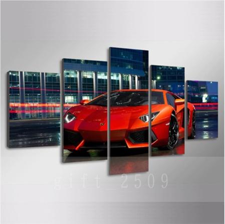 ★☆【大人気!!Lamborghini Huracan】 ランボルギーニ ウラカン 夜景 キャンバス アートポスター 壁紙 フレーム 30x50 30x70 30x80cm☆★_画像2