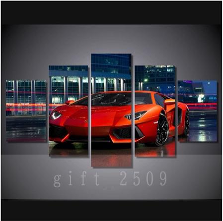 ★☆【大人気!!Lamborghini Huracan】 ランボルギーニ ウラカン 夜景 キャンバス アートポスター 壁紙 フレーム 30x50 30x70 30x80cm☆★_画像1