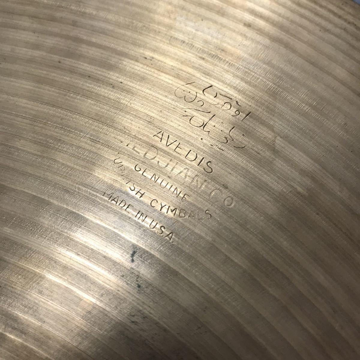 【中古品】ZILDJIAN ジルジャン AVEDIS TURKISH ターキッシュ シンバル 14インチ 直径35cm オールド ヴィンテージ 希少 レア_画像2