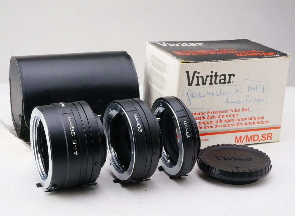 Vivitar Automatic Extension Tube For Minolta MD マウント 接写 リング RING 中間 美品!!!!!! ミノルタ_画像1