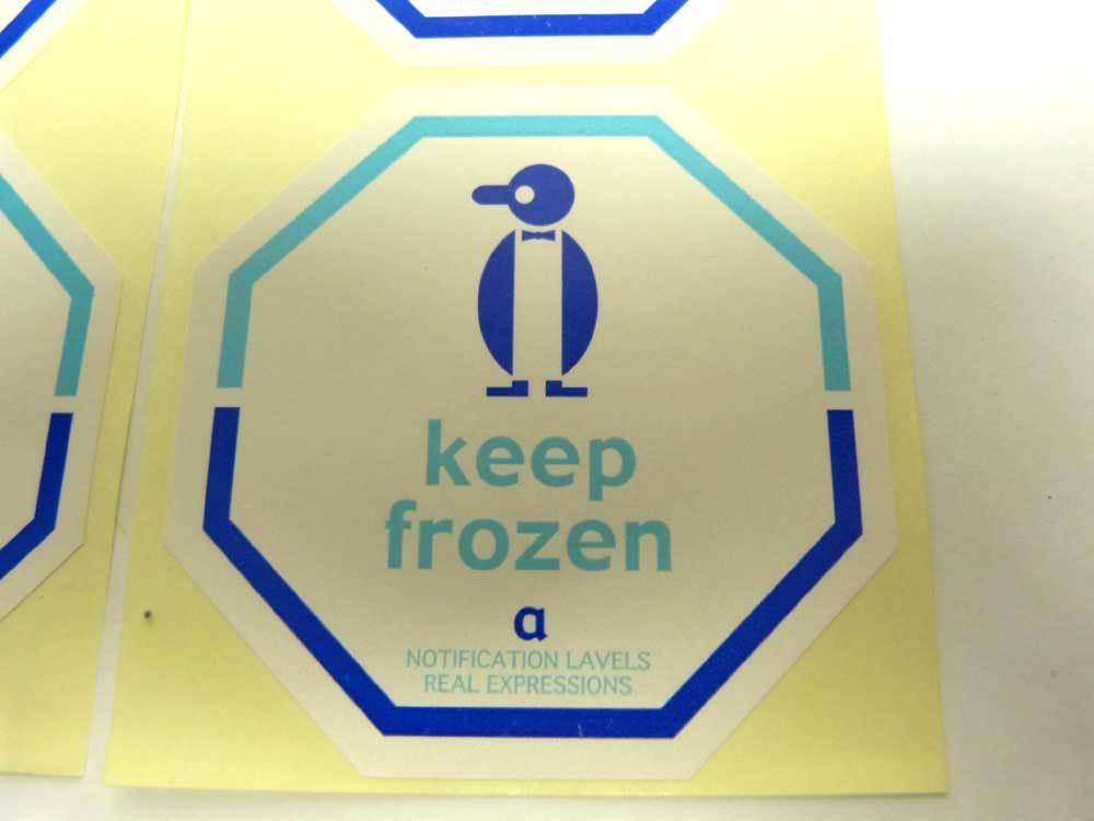 【未使用】USA 10枚入り Keep frozen ステッカー / シール(デッドストック)【中古】【メール便対応可】1g-6-012ビンテージ_画像3