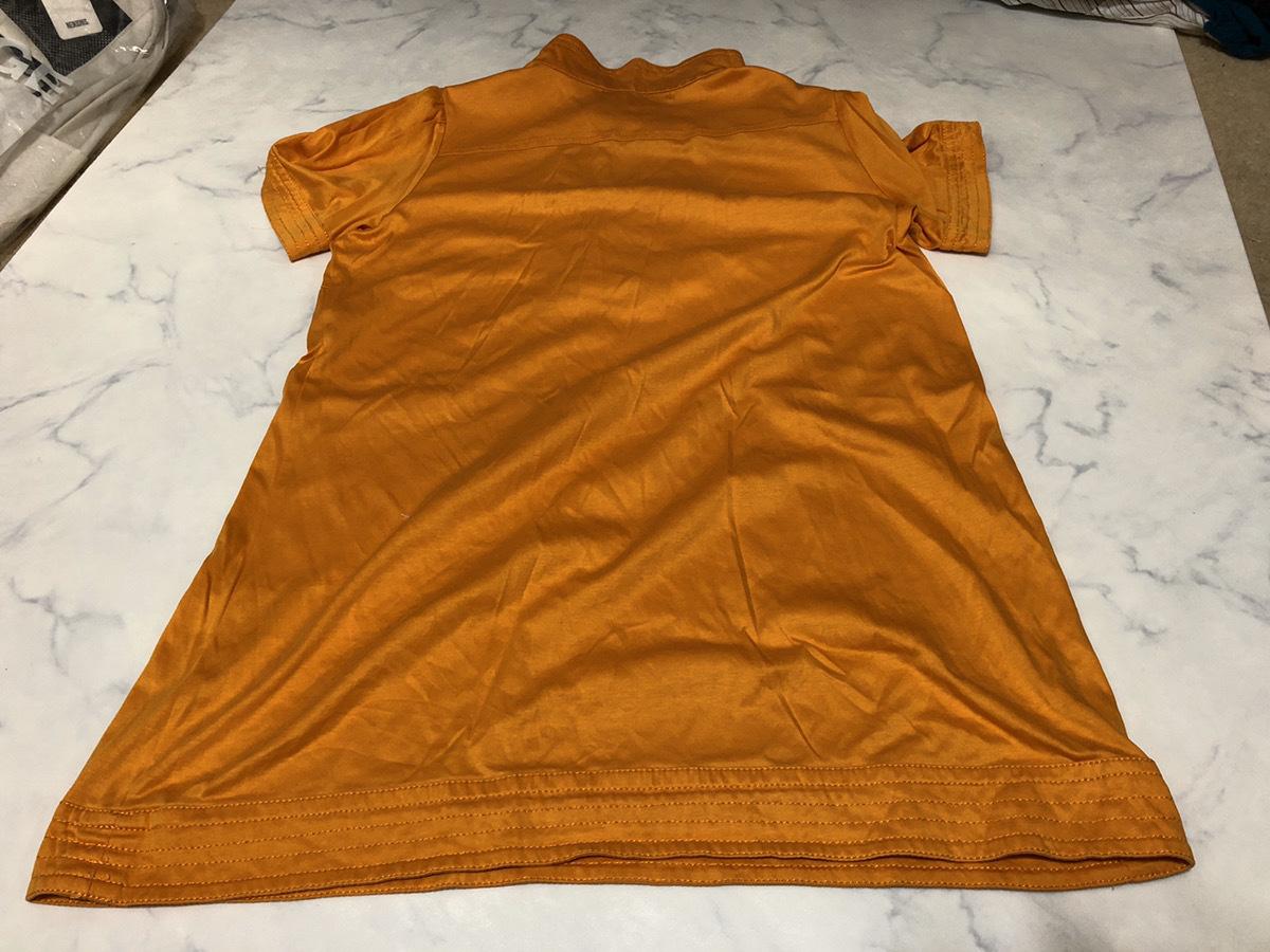 22 OCTOBRE(ヴァンドゥーオクトーブル) シャツ 半袖 52895317 オレンジ系 肩幅約50cm袖丈約16cmバスト約100cm着丈約70cm【アウトレット】P2_画像2