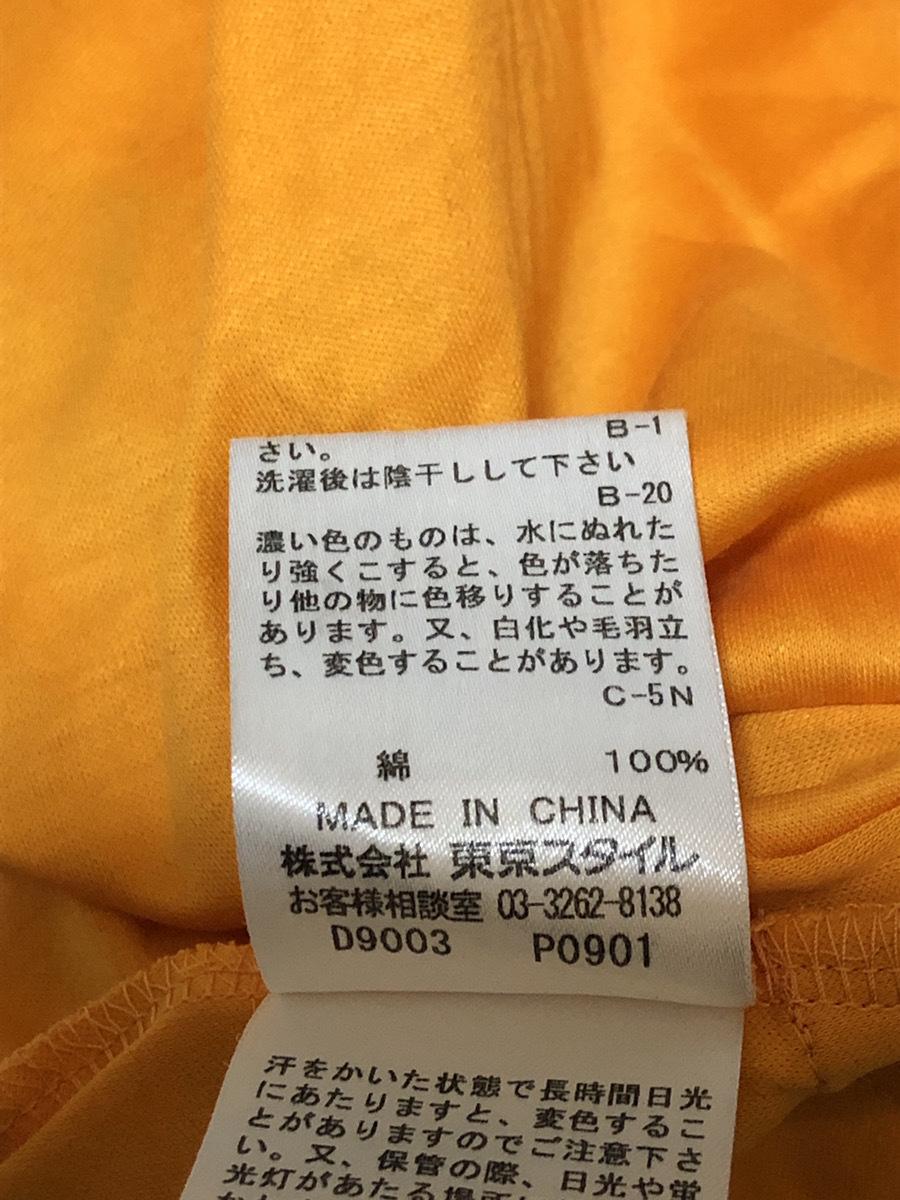 22 OCTOBRE(ヴァンドゥーオクトーブル) シャツ 半袖 52895317 オレンジ系 肩幅約50cm袖丈約16cmバスト約100cm着丈約70cm【アウトレット】P2_画像5