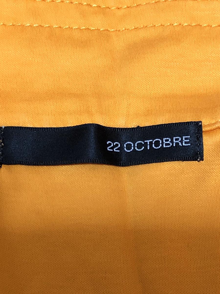 22 OCTOBRE(ヴァンドゥーオクトーブル) シャツ 半袖 52895317 オレンジ系 肩幅約50cm袖丈約16cmバスト約100cm着丈約70cm【アウトレット】P2_画像3