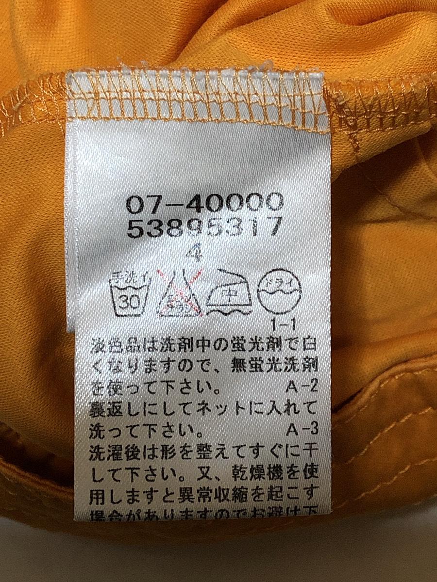 22 OCTOBRE(ヴァンドゥーオクトーブル) シャツ 半袖 52895317 オレンジ系 肩幅約50cm袖丈約16cmバスト約100cm着丈約70cm【アウトレット】P2_画像4