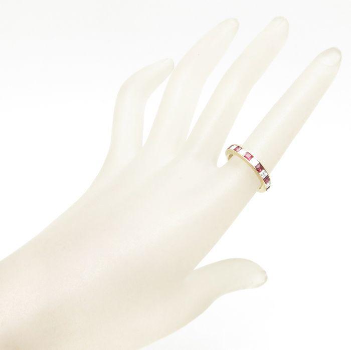 リング K18YG ルビー0.67ct ダイヤモンド0.57ct 11号 18金イエローゴールド 指輪 レディース ジュエリー /63889 【中古】_画像2