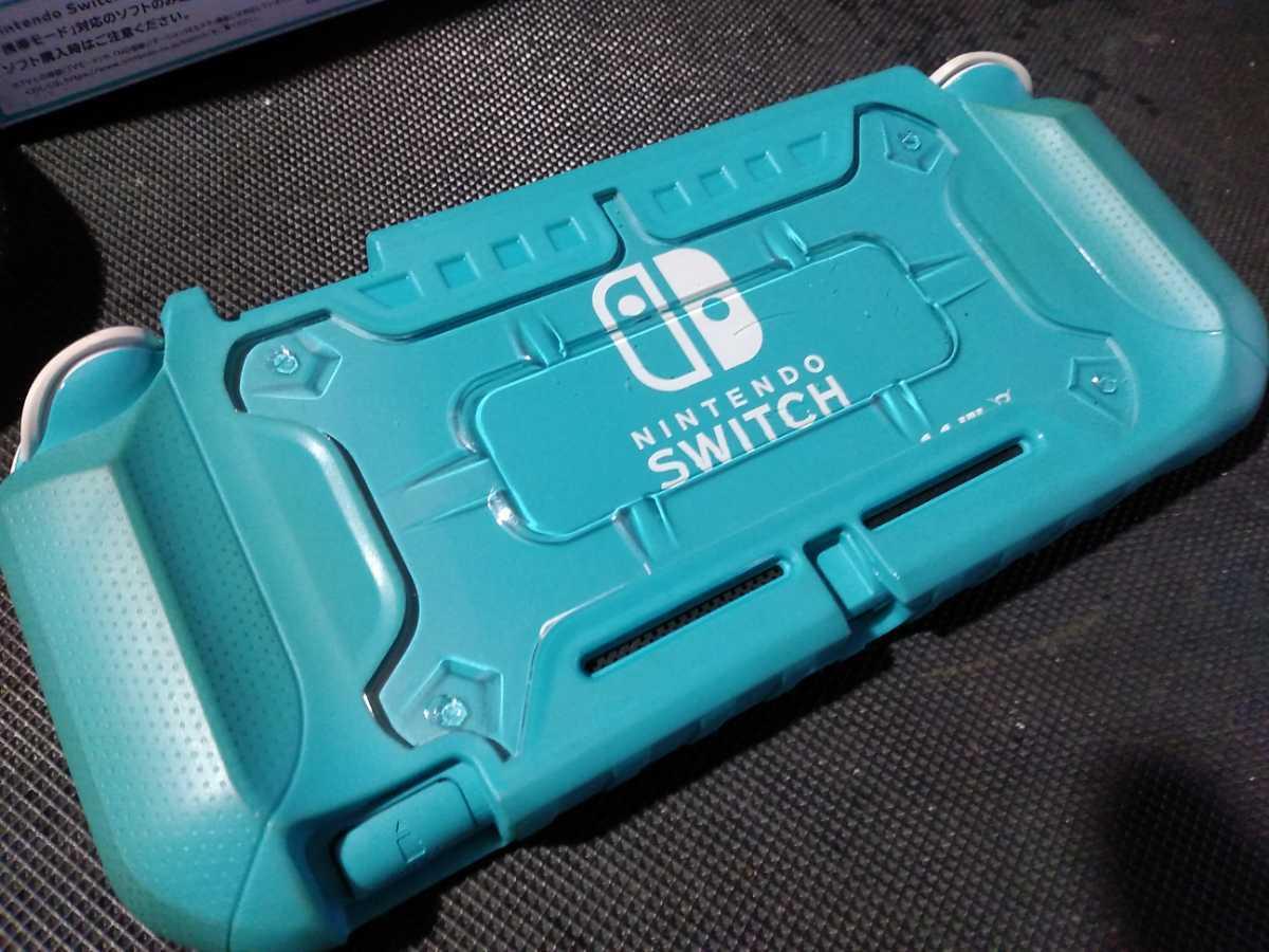 送料込み ニンテンドー スイッチ ライト 本体 ターコイズ Nintendo Switch Lite 任天堂 中古 GEO保証 ハードケース カバー付き HDH-001_画像4