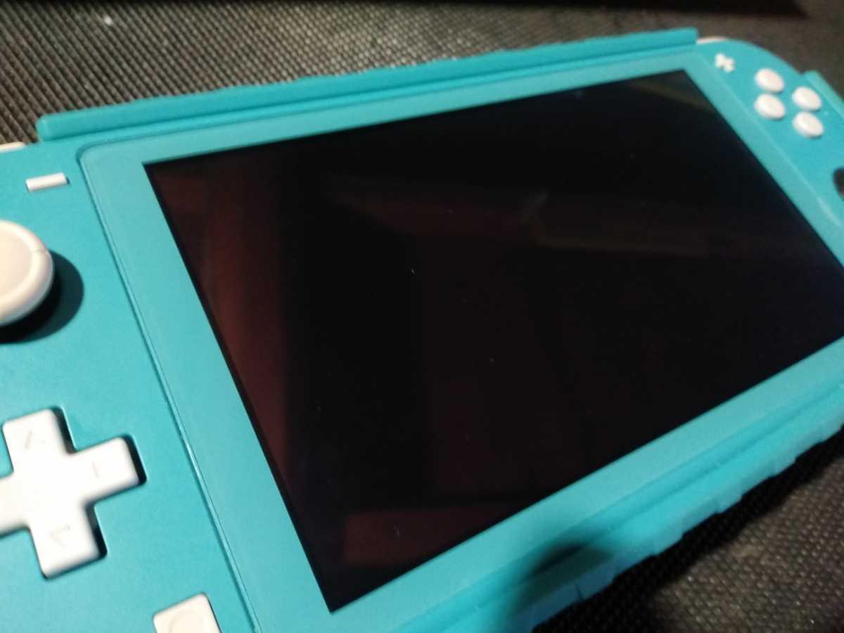 送料込み ニンテンドー スイッチ ライト 本体 ターコイズ Nintendo Switch Lite 任天堂 中古 GEO保証 ハードケース カバー付き HDH-001_画像2