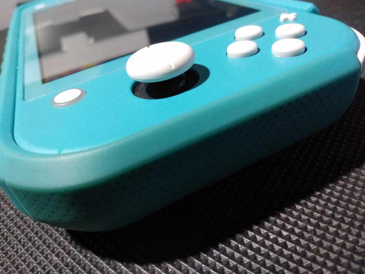 送料込み ニンテンドー スイッチ ライト 本体 ターコイズ Nintendo Switch Lite 任天堂 中古 GEO保証 ハードケース カバー付き HDH-001_画像8