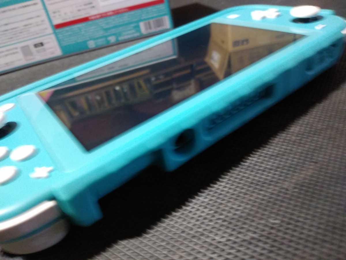 送料込み ニンテンドー スイッチ ライト 本体 ターコイズ Nintendo Switch Lite 任天堂 中古 GEO保証 ハードケース カバー付き HDH-001_画像9