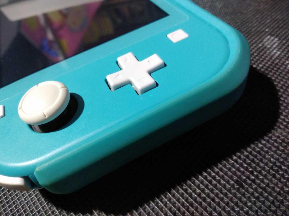 送料込み ニンテンドー スイッチ ライト 本体 ターコイズ Nintendo Switch Lite 任天堂 中古 GEO保証 ハードケース カバー付き HDH-001_画像7