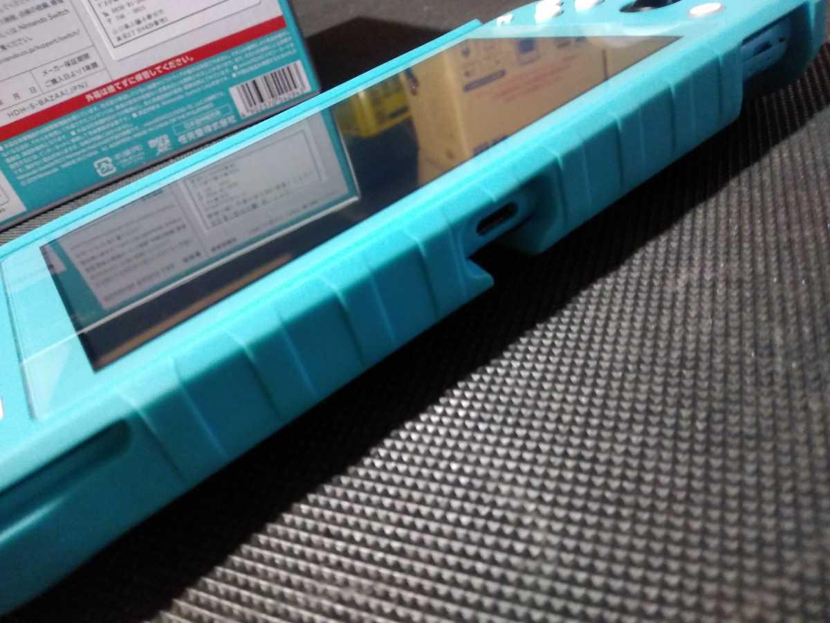 送料込み ニンテンドー スイッチ ライト 本体 ターコイズ Nintendo Switch Lite 任天堂 中古 GEO保証 ハードケース カバー付き HDH-001_画像10