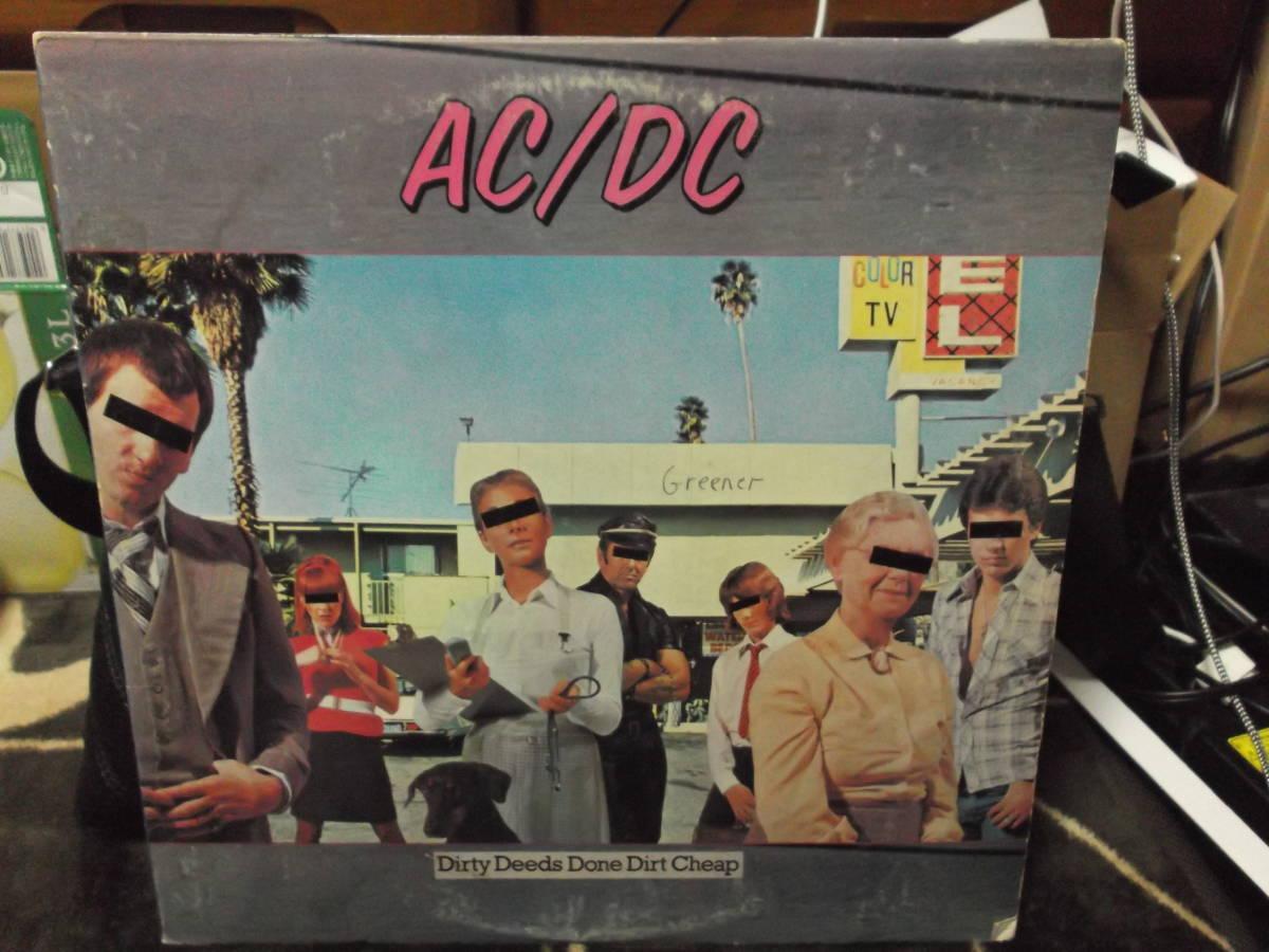 AC/DC [Dirty Deeds Done Dirt Cheap] Vinyl, LP, Album, Club Edition, Reissue_画像1