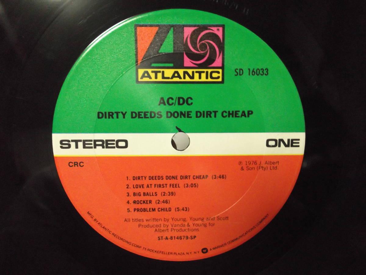 AC/DC [Dirty Deeds Done Dirt Cheap] Vinyl, LP, Album, Club Edition, Reissue_画像8