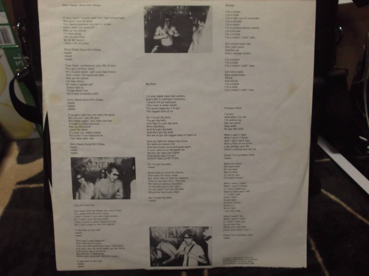 AC/DC [Dirty Deeds Done Dirt Cheap] Vinyl, LP, Album, Club Edition, Reissue_画像6