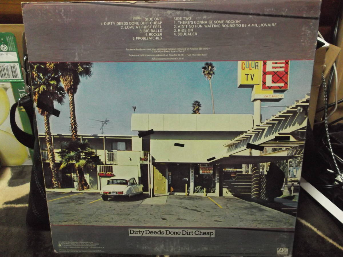 AC/DC [Dirty Deeds Done Dirt Cheap] Vinyl, LP, Album, Club Edition, Reissue_画像2