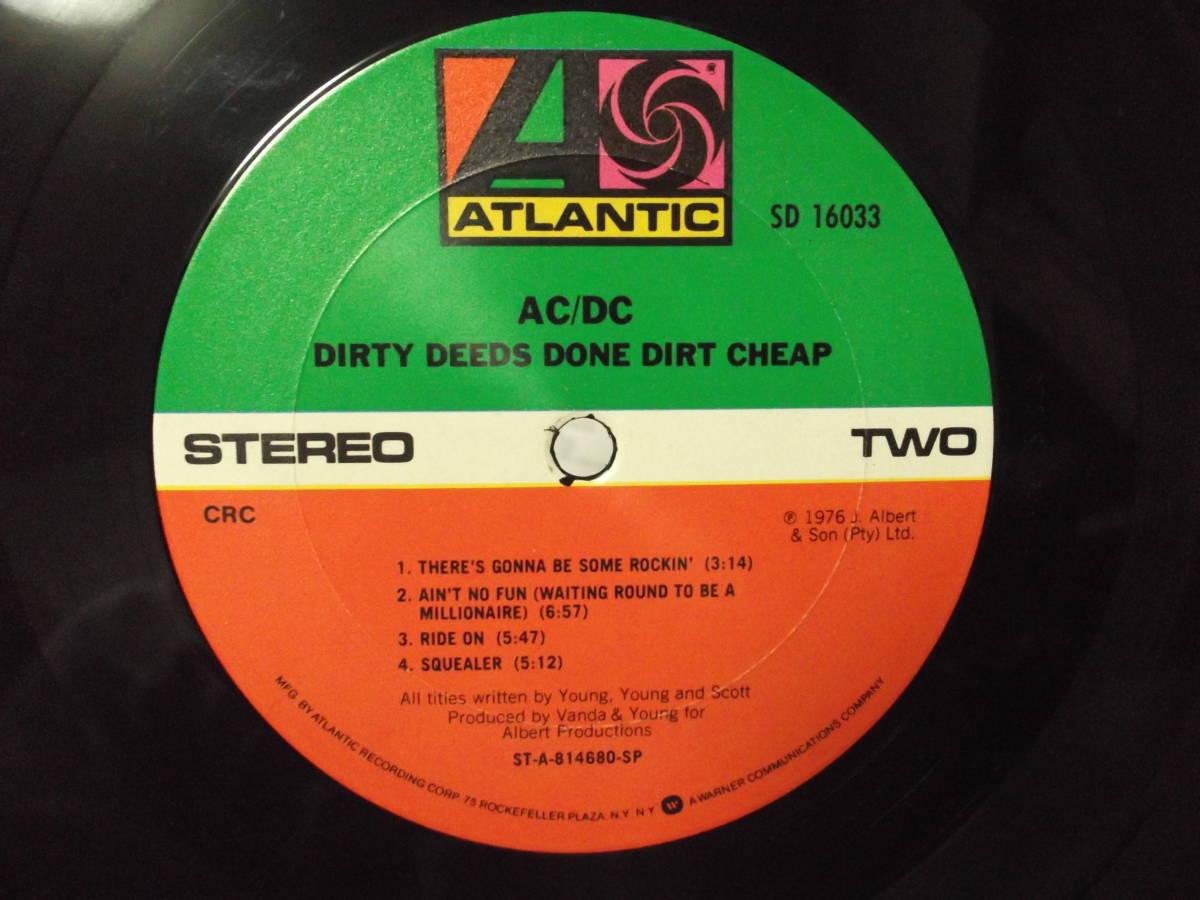 AC/DC [Dirty Deeds Done Dirt Cheap] Vinyl, LP, Album, Club Edition, Reissue_画像9