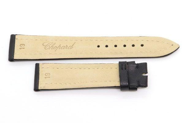 ショパール 替えベルト 純正 ブラック レザー 黒 革ベルト 時計 腕時計 Watch chopard 腕時計バンド 時計バンド_画像2