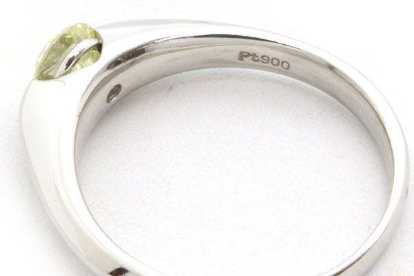 ダイヤモンド リング 一粒 ラウンドブリリアントカット 0.593ct Pt900 13号 中古 指輪 プラチナ Diamond_画像5
